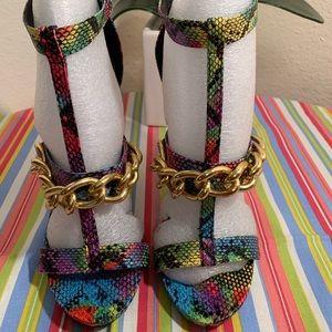 Steve Madden - Multicolor Golden Chain Heel.
